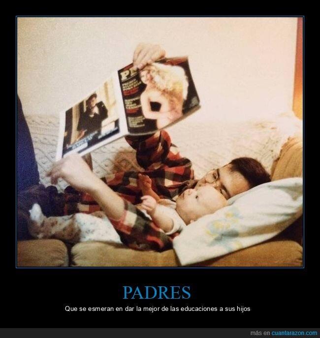 hijo,padre,padres del año,revista