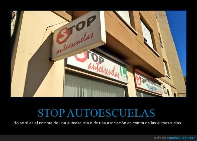 autoescuela,nombres,stop