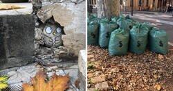 Enlace a Cal, la artista francesa que decora las calles con sus travesuras ingeniosas