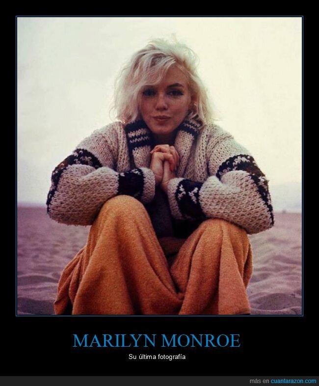 fotografía,marilyn monroe,última