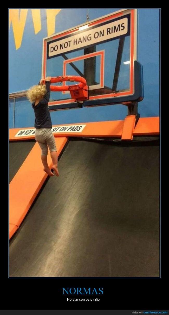 aro,baloncesto,canasta,carteles,colgado,niño,prohibición