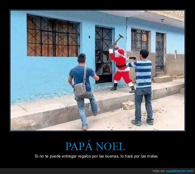 martillo,papá noel,puerta,wtf