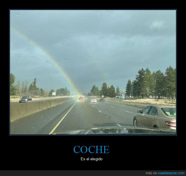 arcoíris,coche,wtf