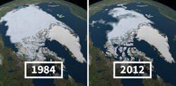 Enlace a Imágenes de la nasa que muestran lo real que es el cambio climático
