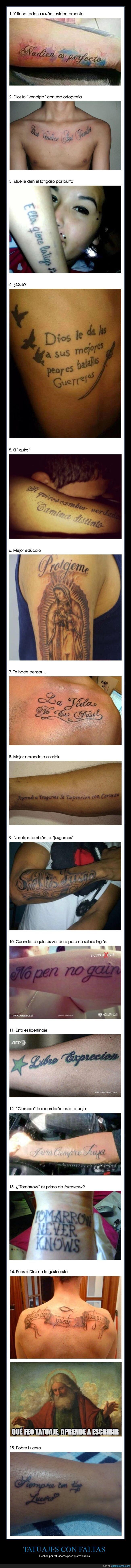 fails,ortografía,tatuajes
