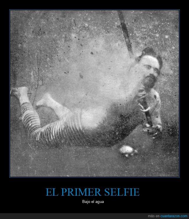 bajo el agua,retro,selfie