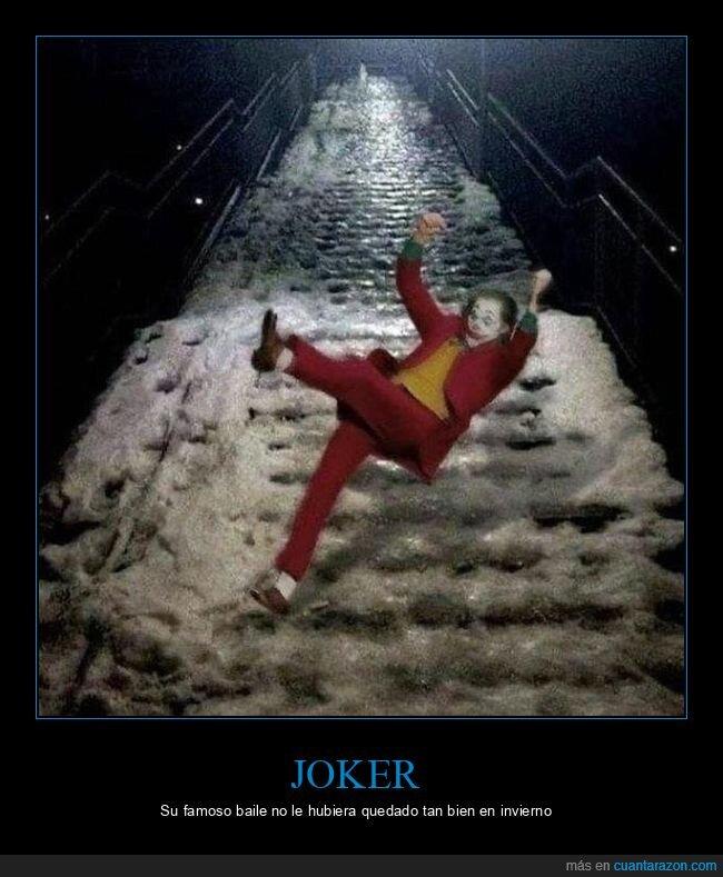 escaleras,hielo,joker