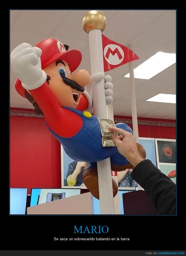 billete,mario,pole dance