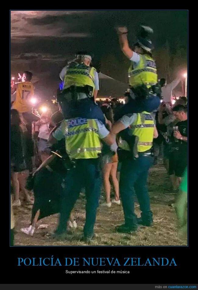 festival,nueva zelanda,policía