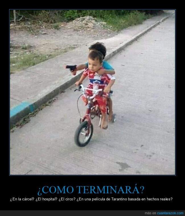 bicicleta,niños,pistola