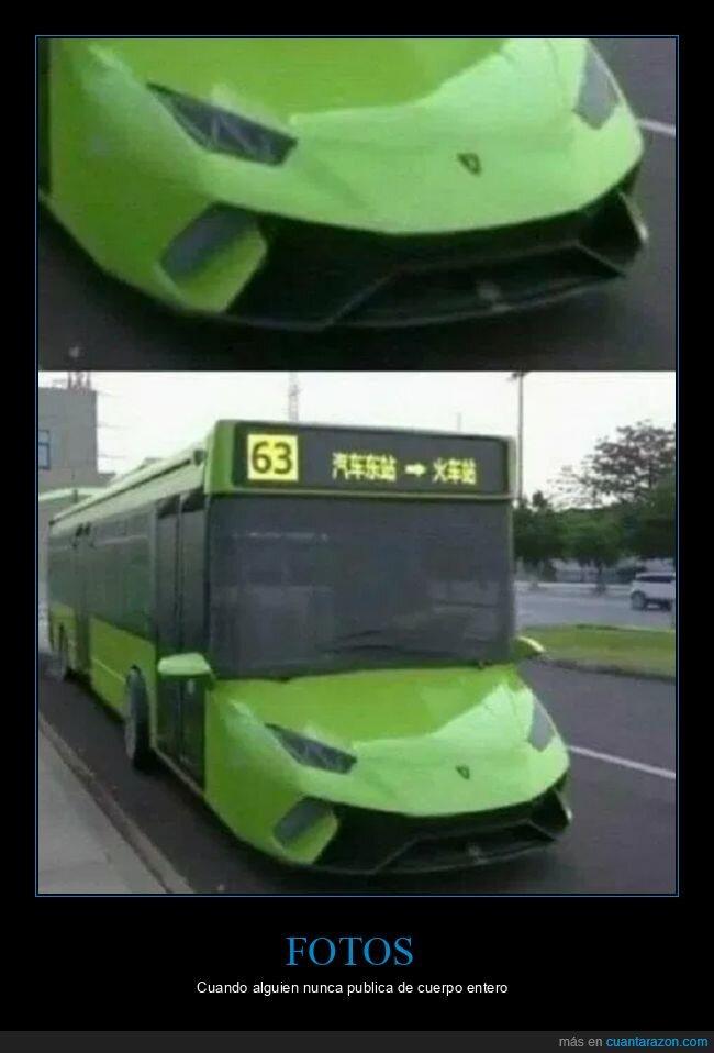autobús,cuerpo entero,lamborghini,wtf