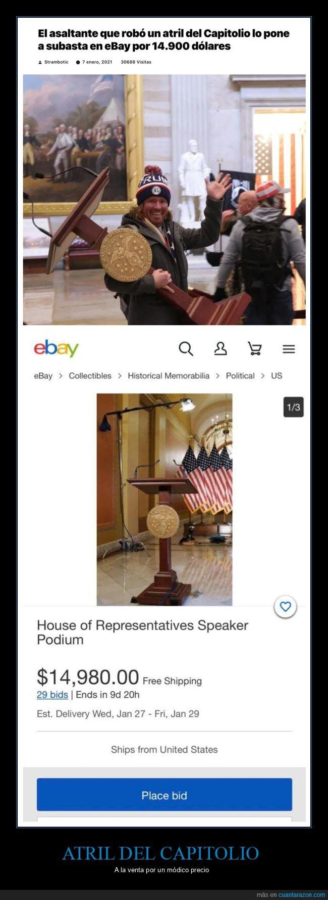 atril,capitolio,ebay,eeuu,robo