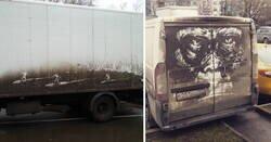 Enlace a Este artista crea obras de arte efímeras con la suciedad de los vehículos