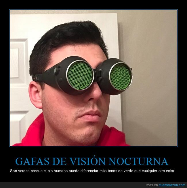 gafas de visión nocturna,verdes