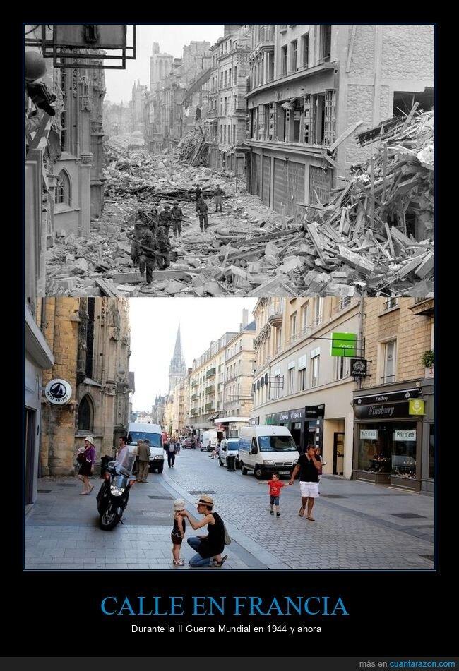 ahora,antes,calle,francia,ii guerra mundial