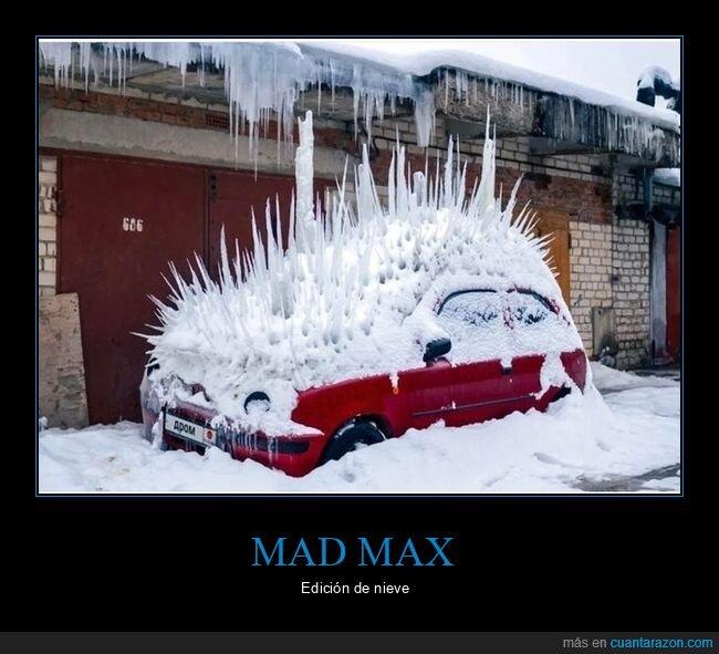coche,mad max,nieve,wtf