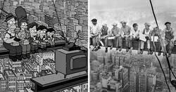 Enlace a Fotos históricas que fueron recreadas en episodios de 'Los Simpson'