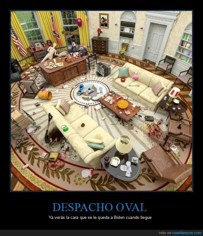 desastre,despacho oval