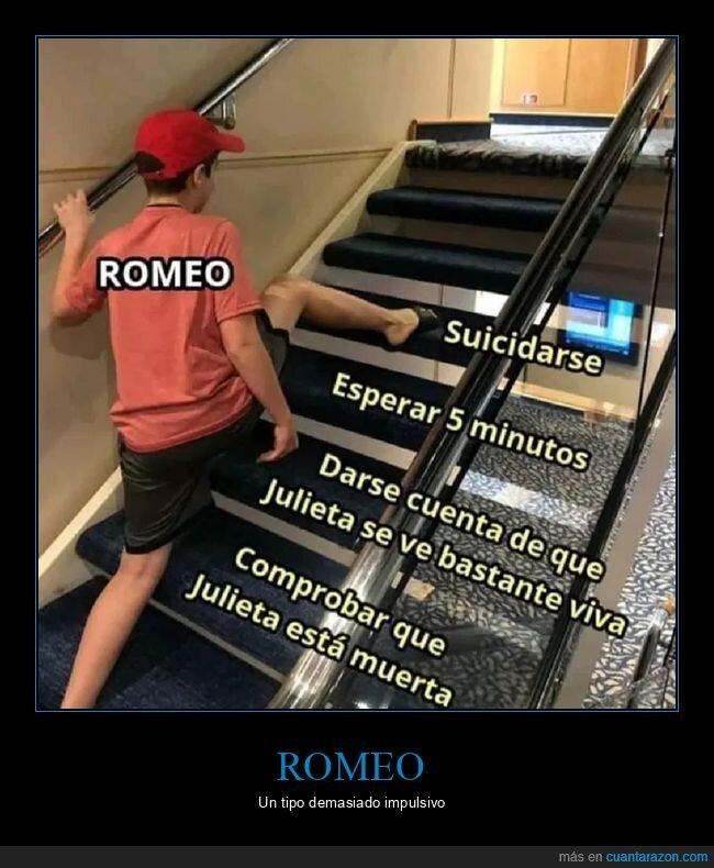 escaleras,romeo,suicidarse