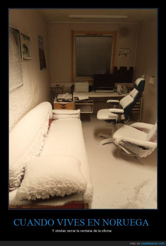 nieve,noruega,olvidar,ventana