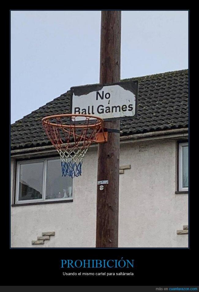 baloncesto,canasta,cartel,prohibición,tablero