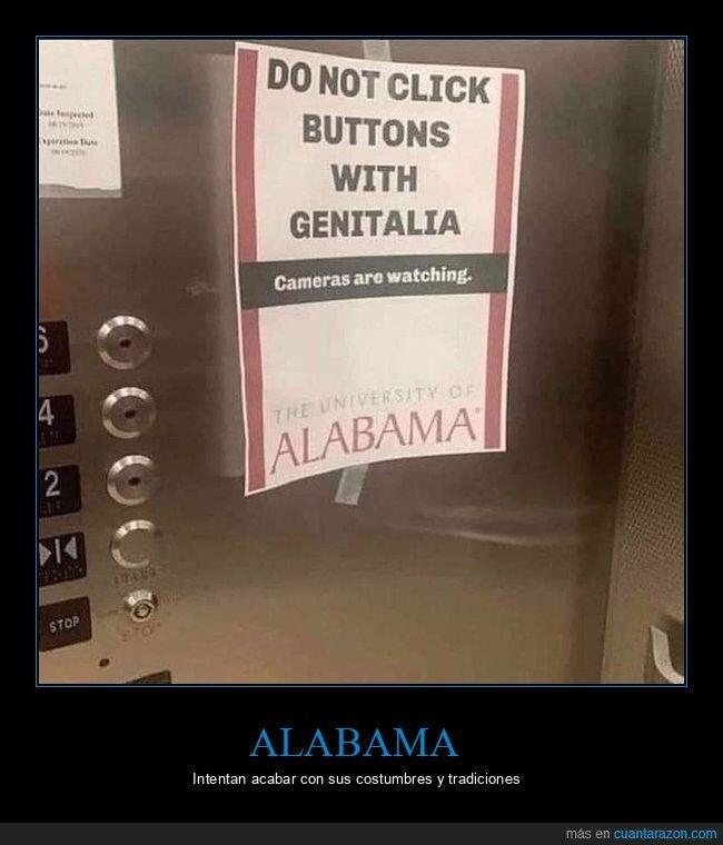 ascensor,botones,carteles,prohibición