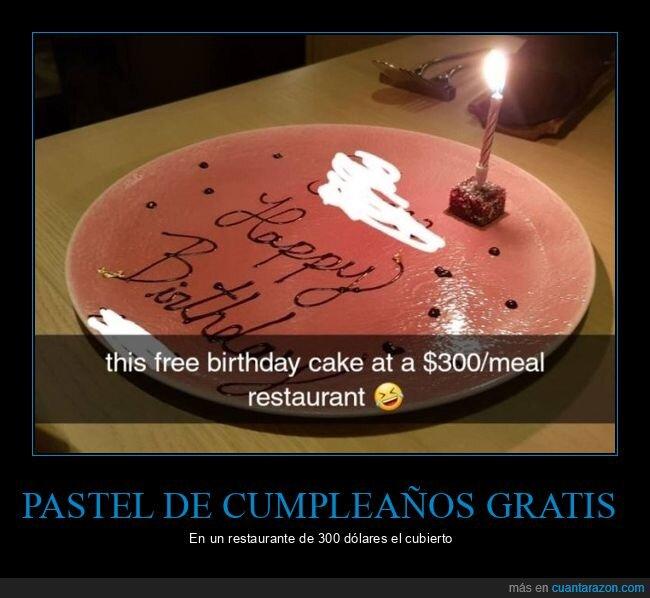 cumpleaños,pastel,pequeño,restaurante