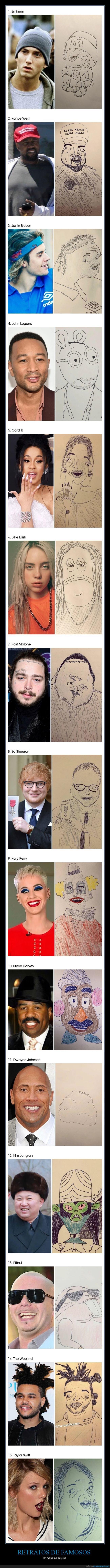 famosos,malos,retratos