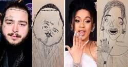 Enlace a Artista crea retratos de famosos que son tan malos que dan risa y se hacen virales