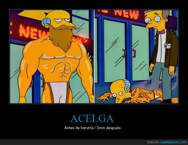 acelga,antes,burns,depués,hervir,simpsons