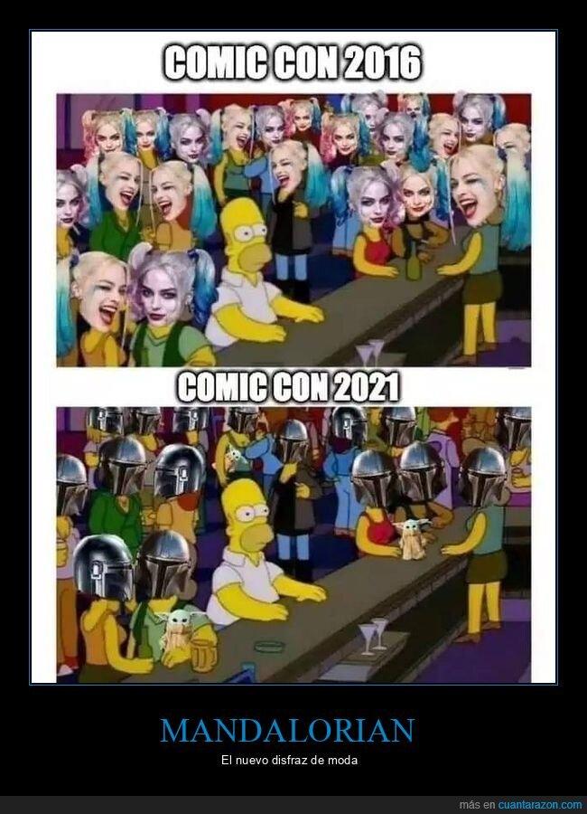 2016,2021,comic con,cosplay,harley quinn,mandalorian