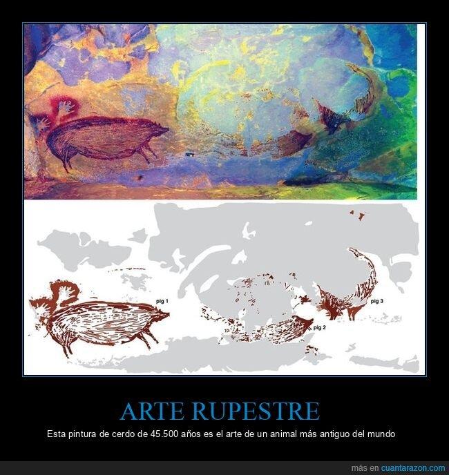 antigua,arte ruperstre,cerdo