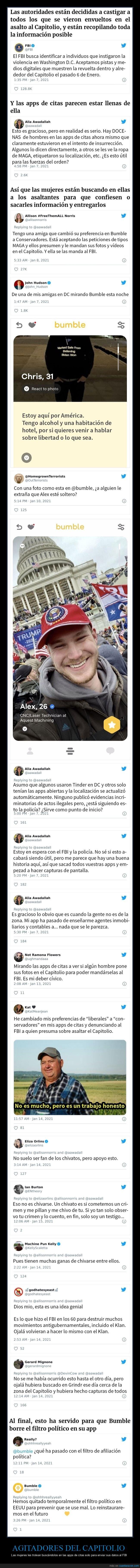 apps de citas,capitolio,fbi
