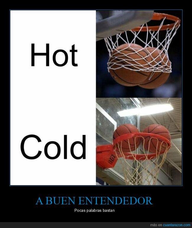 calor,canasta,frío,pelotas