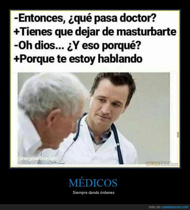 dejar,hablando,médico