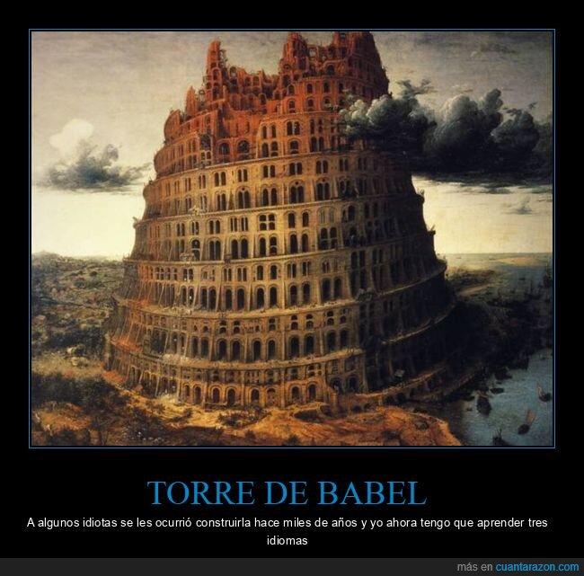 idiomas,torre de babel
