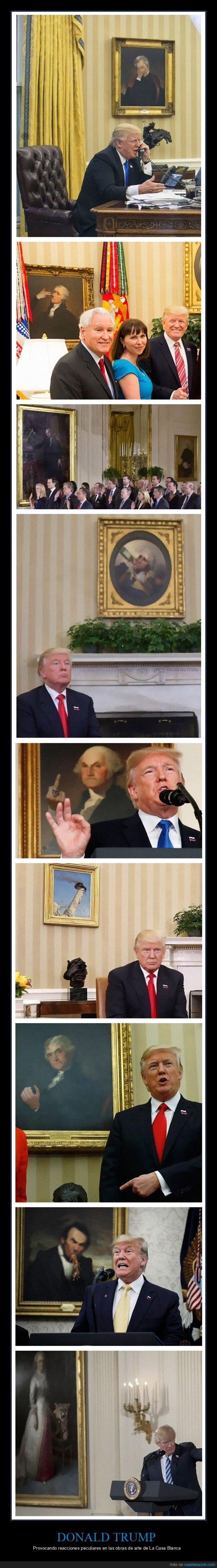 casa blanca,donald trump,obras de arte,políticos,reacciones