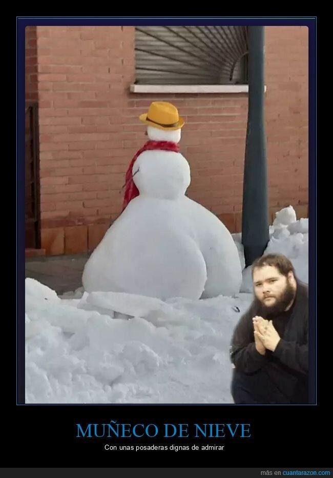 culo,muñeco de nieve
