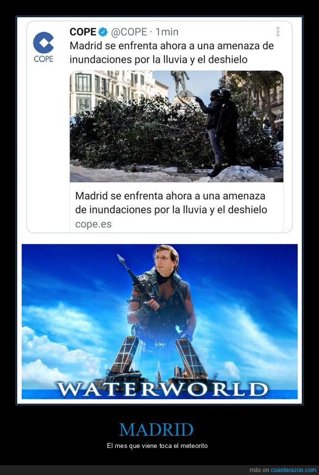 almeida,inundaciones,madrid,políticos,waterworld