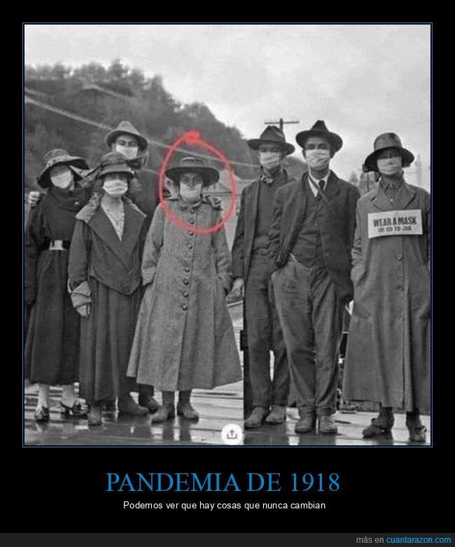gripe española,mascarilla,nariz,pandemia