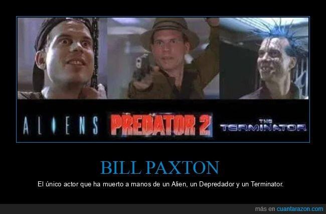 actor,alien,bill paxton,cine,depredador,muertes,terminator