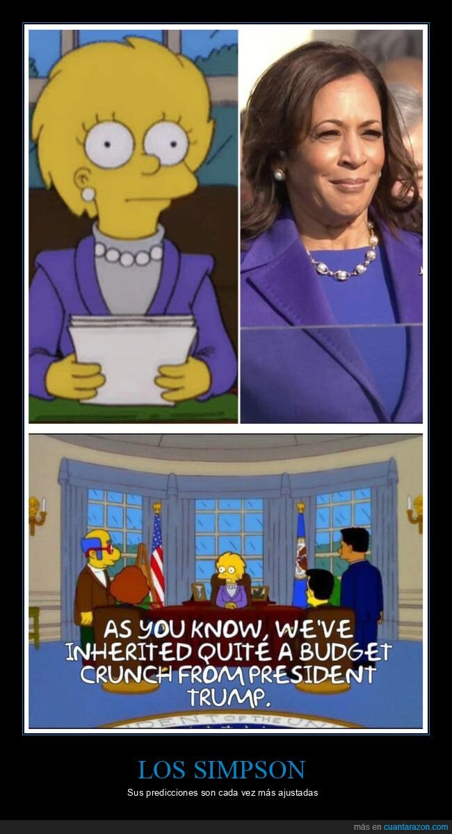 kamala harris,lisa,parecidos,políticos,simpsons