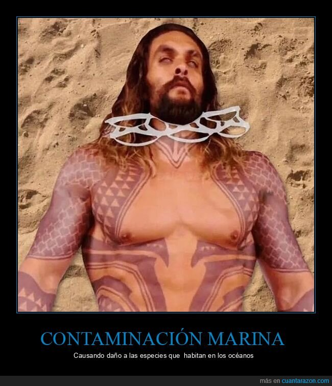 aquaman,contaminación,mar