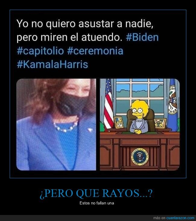 kamala harris,lisa,ropa,simpsons