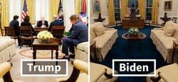 Enlace a Imágenes que muestran las diferencias entre Biden y Trump en la decoración del Despacho Oval