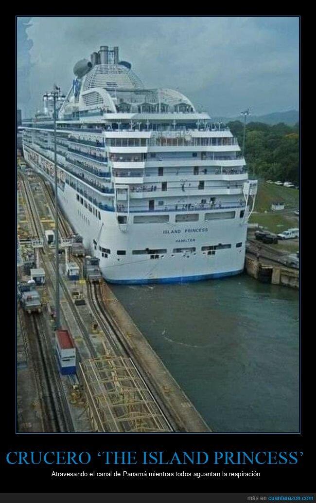 canal de panamá,crucero,cruzando
