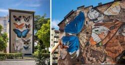 Enlace a Descomunales murales del artista Youri Cansell como crítica a un problema global