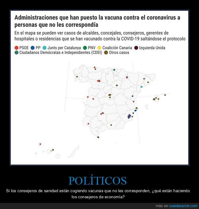 políticos,vacunas