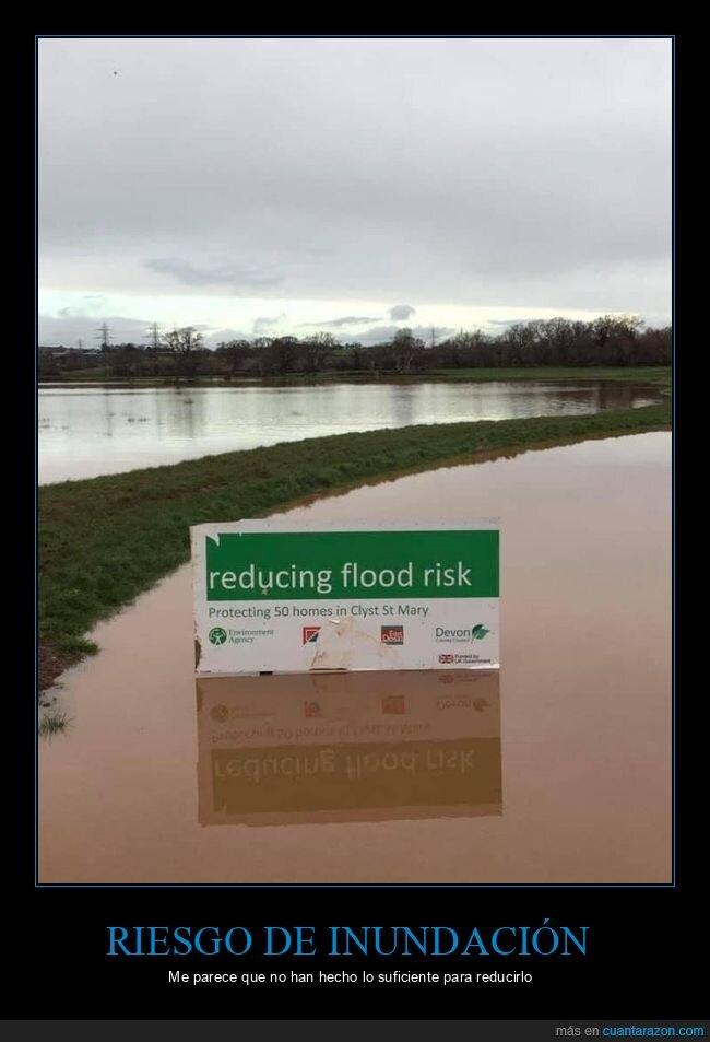 carteles,inundación,reducir,riesgo