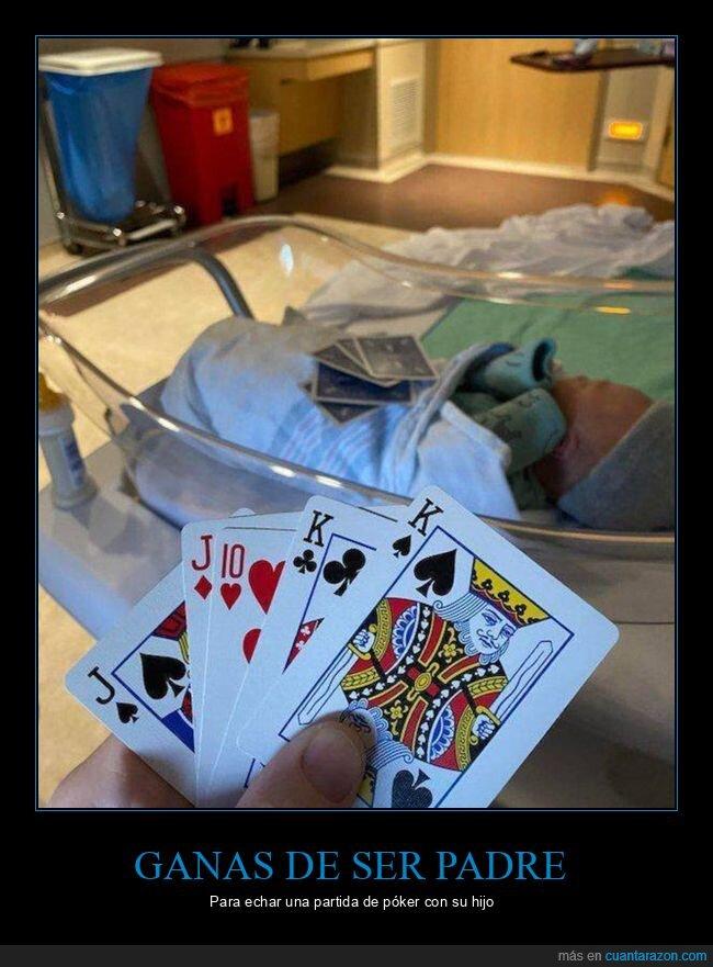 bebé,hijo,padre,póker